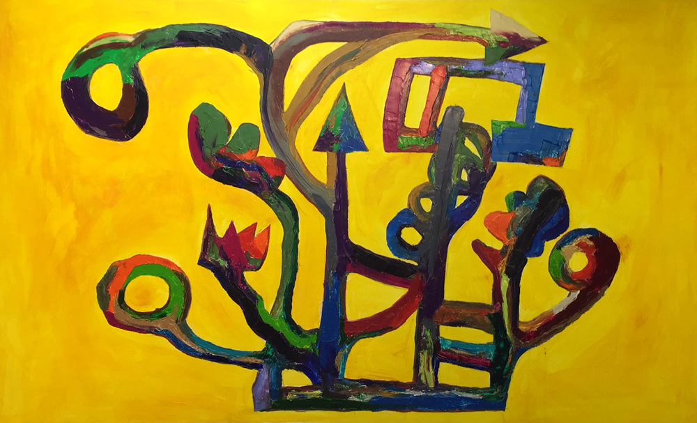 005 tree with indication(study of Arp) 100M oil on canvas 2015.jpg