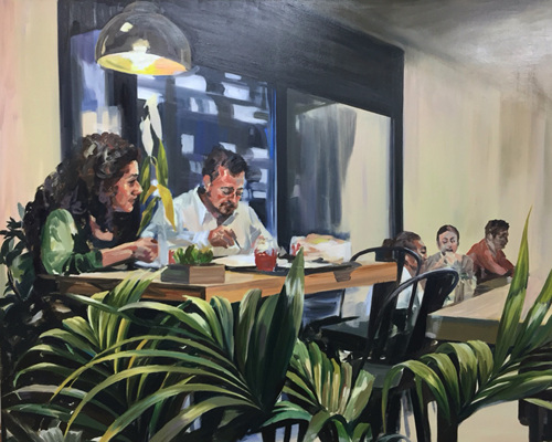 Dinner, Oil on canvas, 130.3x162.2cm, 2016.jpg