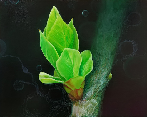 The Plants 4_Oil on canvas_31.8x40.8cm_2016.jpg