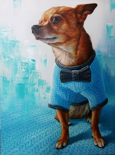Woolscape-chihuahua outing, oil on canvas, 80X60㎝, 2017..jpg