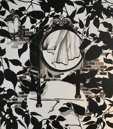 Curtain 45cmx33cm Acrylic on canvas 2016.jpg