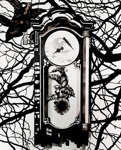 Wall clock 90cmx72cm, Acrylic on canvas, 2016.jpg
