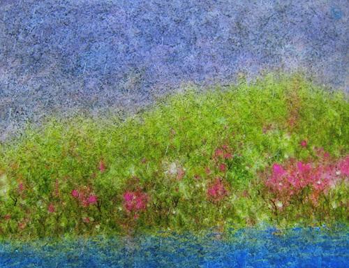 봄비 오는 날 10f mixed media.jpg