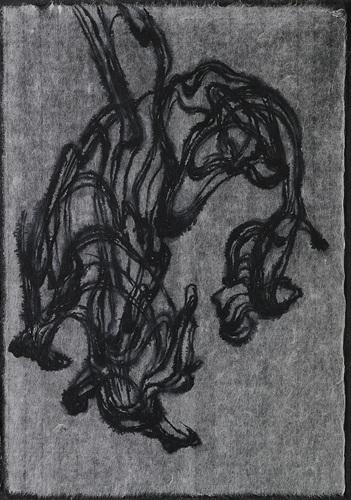 4-1.물 드로잉(water drawing), 초박순지에 붓펜 드로잉, 33×47.5cm, 2017.jpg