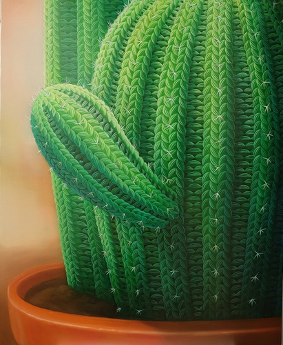Woolscape-Prickly cactus,  65X53cm, oil on canvas, 2018..jpg