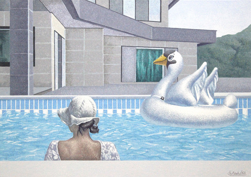 swimming pool 76.0 x 53.5cm oil on canvas 2018.jpg